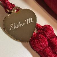 ◆WAKAO赤い傘◆タッセルアップグレードみや竹オリジナルネーム入り赤いタッセル英字は筆記体で8文字まで(大文字は2つまでOK)漢字ひらがなカタカナは明朝体で6文字まで両面に刻字してありますので裏返っても見えます