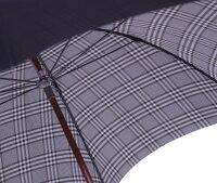 【受注作成】◆米田正一正絹紳士傘グレンチェック黒(Yoneda31B)大阪船場の匠がつくる最高級正絹紳士傘※基本の「籐」ハンドルにて作成作成期間約4週間
