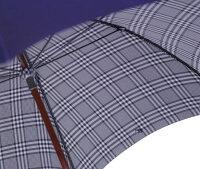 【受注作成】◆米田正一正絹紳士傘グレンチェック紺(Yoneda31N)大阪船場の匠がつくる最高級正絹紳士傘※基本の「籐」ハンドルにて作成作成期間約4週間