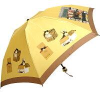 マンハッタナーズCATDELIVERY「猫の配達」レディース丸ミニ雨傘(折畳)
