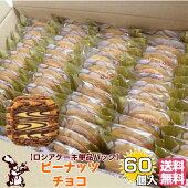 ロシアケーキ単品パック60個入ピーナッツチョコ