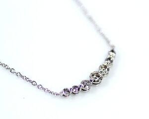 【限定1本】Silver0.35ctダイヤモンド7ストーンペンダント