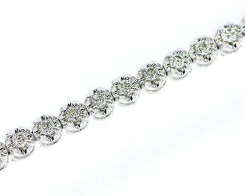 K18WG 合計1.0ctダイヤモンドテニスブレスレット 【鑑別書付】:KASHIMA