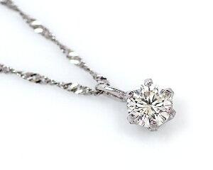 エントリー ポイント クーポン ダイヤモンド ペンダント プラチナ シンプル スクリュー ネックレス