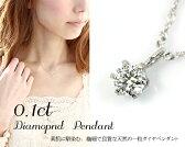 Pt900 0.1ct 0.15ct 一粒 ダイヤモンド ペンダントプラチナ シンプル 定番 ダイヤ 6本爪 スクリュー ネックレス ギフト