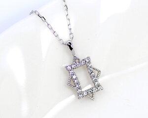 K10/WG0.1ctダイヤモンドペンダント
