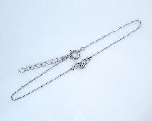 K10/WG/PG0.02ctダイヤモンドハートブレスレット