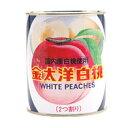金太洋 国内産 白桃缶詰 二つ割り 2号缶 850g【常温】