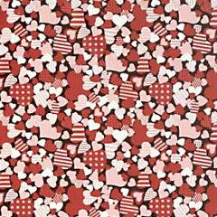 チョコレート 転写シート カラフルハート 3色 1枚 mah
