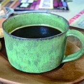 アンティークのような深い味わいがある緑のマグカップmug(old-green)<陶芸家三木尚>