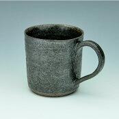 渋かっこいい大人のコーヒーカップ黒鉄マグカップ<陶芸家高須賀誠>