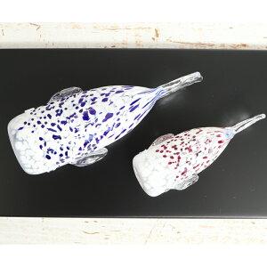 ガラスの鯉を端午の節句のお祝いに!【塗り台付き】親子鯉清翔<ガラス作家松井哲郎>