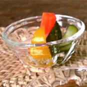 昭和レトロなストレートのモール模様が美しい小鉢モール小鉢<ガラス工房CRAFTHOUSE>