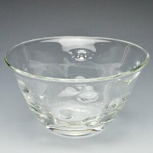 ガラスのつぶつぶがポコポコ突き出しているかわいい器ぽこぽこボウル<ガラス工房CRAFTHOUSE>