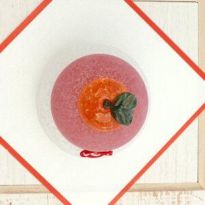 【白木台・水引セット付き】鏡餅(紅白)大箱入り<ガラス工房CRAFTHOUSE>ガラス職人手作り。大きめサイズのガラスの鏡餅