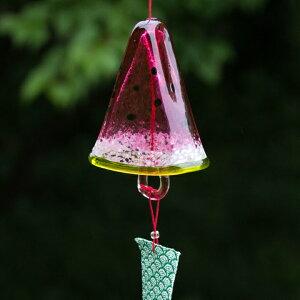 吹きガラス作家手作り!夏を彩るモダンなガラスの風鈴風鈴スイカ<ガラス工房CRAFTHOUSE>