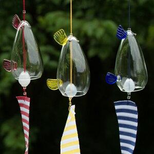 吹きガラス作家手作り!夏を彩るモダンなガラスの風鈴風鈴カザミドリ<ガラス作家林祥生>