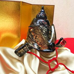 ガラスの兜。五月人形、かぶとを端午の節句のお祝いに!【金屏風セット付き】レース兜<ガラス作家田崎亮介>