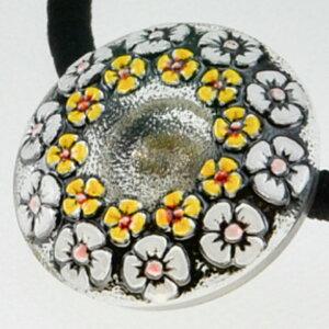 チェコガラスボタンヘアゴムS