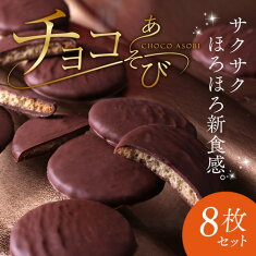 がらんの小石×チョコ チョコがけクッキー8枚入り