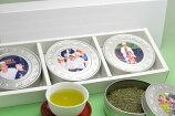 【送料無料】写真プリントCAN(3缶)お茶ギフトセット