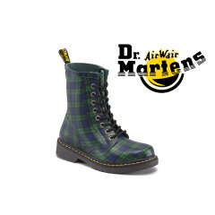 【正規品】 【送料無料】 Dr.Martens WELLINGTON DRENCH BLACK WATCH TARTAN ドクターマーチン 8ホール タータンチェック ブラックウォッチ レースアップ レインブーツ 雨 男性用 女性用 メンズ レディース ユニセックス 1408