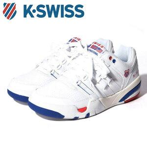 送料無料 Kスイス ケースイス メンズ スニーカー SI-18 インターナショナル ヘリテージ 36058230 ホワイト トリコロール 白 赤 青 レザー テニスシューズ K-SWISS SI-18 International Heritage WHITE