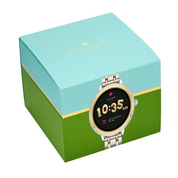 <10%OFFクーポン配布中/27日まで>『公式ショッパープレゼント』ケイトスペード タッチ スクリーン スマートウォッチ 公式 2年 保証 Katespade iphone android 対応 ウェアラブル Smartwatch 腕時計 レディース スカラップ KST2007 SCALLOP