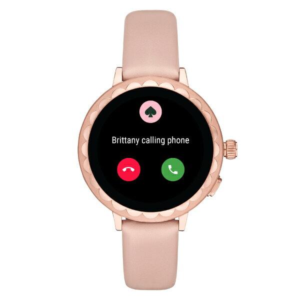 『母の日 公式ショッパープレゼント』2019 春の新作 ケイトスペード タッチ スクリーン スマートウォッチ 公式 2年 保証 Katespade iphone android 対応 ウェアラブル 腕時計 レディース KST2009 SCALLOP SMARTWATCH 2 42mm