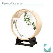 カトモクの日本製、木桶型金魚鉢