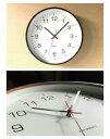 KATOMOKU plywood clock 4 L-size km-61BRC ブラウン 電波時計 連続秒針 名入れ対応品 3