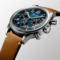 スイス製Longinesロンジンヘリテージアヴィゲーションビッグアイ・クロノグラフ自動巻き腕時計ケース直径約41ミリ正規代理店商品男性用腕時計コラムホイールクロノグラフL2.816.1.93.2