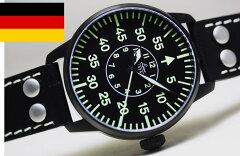 第二次世界大戦時のドイツ空軍モデルを復刻!復刻!ドイツ空軍採用のLaco【ラコ】自動巻きBiele...
