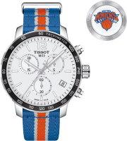公式NBA「NewYorkKnicks」ニューヨーク・ニックス!スイス製Tissot【ティソ】QUICKSTERNBATEAMSクォーツ腕時計T095.417.17.037.06