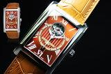 世界限定500本!スイス製FREDERIQUE CONSTANT【フレデリック・コンスタント】コニャックカラーのカレ ハートビート&デイト自動巻き腕時計