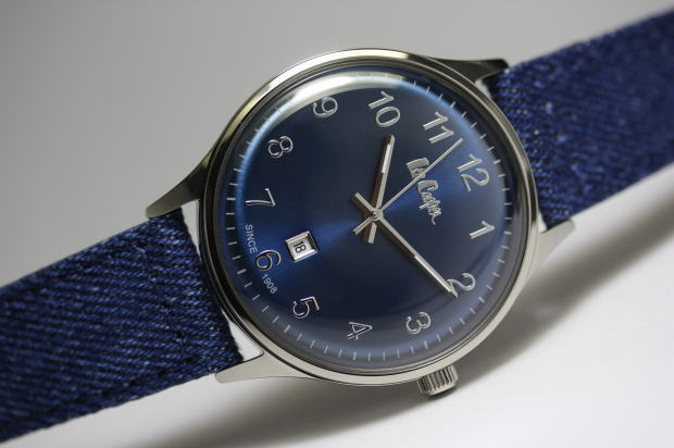 イギリスのデニムメーカーLee Cooper【リークーパー】のデニム柄革バンドのクォーツ腕時計/正規代理店商品