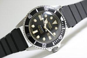 ヴィンテージ・デザインのVAGUEWATCHCo.ヴァーグ・ウォッチ・カンパニーDIVER'SSONダイバーズサン腕時計ケース直径約36ミリの小さめクォーツダイバー送料無料男女兼用ボーイズサイズDS-L-001