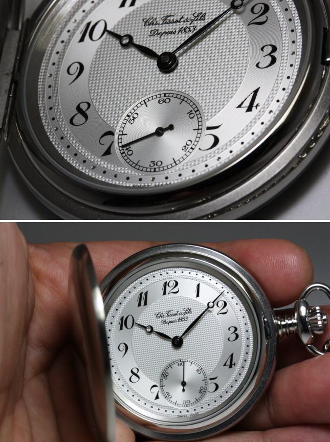 スイス製TISSOT【ティソ】手巻フタ付懐中時計ポケットウォッチ/正規代理店商品