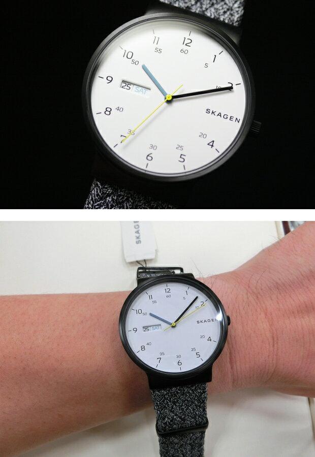 北欧デンマークSKAGEN【スカーゲン】ANCHER【アンカー】Gray NATOデイデイト・クォーツ腕時計/メンズ・デザインウォッチSKW6454