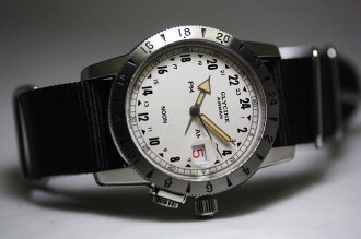 Limited 600 books! Reprinted in 1953 GLYCINEAirman! 1953 Vintage automatic Chronograph Watch / reprint military watches / 24-hour display clock
