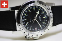 復刻!24時間表示!スイス製GLYCINE【グリシン】AirmanN°1【エアマン・ナンバーワン】自動巻き腕時計/ミリタリーウォッチ/腕時計/アメリカ空軍パイロット