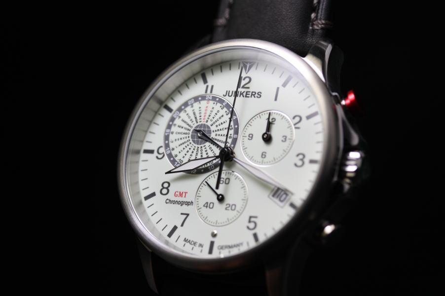 ドイツ製JUNKERS【ユンカース】Worldtimerワールドタイマー・GMTクロノグラフ腕時計/正規品