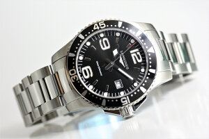 スイス製Longinesロンジンハイドロコンクエストクォーツ腕時計アルミニウムベゼル300m防水正規代理店商品HydroConquestL3.730.4.56.6サファイアガラス39ミリメンズウォッチ