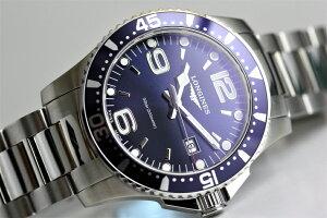 スイス製Longinesロンジンハイドロコンクエストクォーツ腕時計アルミニウムベゼル300m防水正規代理店商品HydroConquestL3.730.4.96.6サファイアガラス39ミリメンズウォッチ