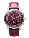 ドイツのZEPPELIN ツェッペリン アラームクロノグラフ 腕時計 8680-5 ツェッペリン号生誕100周年記念モデル 62,700円 日本限定レッド 還暦お祝い