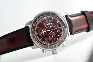 ドイツのZEPPELINツェッペリンアラームクロノグラフ腕時計8680-5ツェッペリン号生誕100周年記念モデル62,700円日本限定レッド還暦お祝い