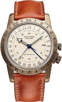 スイス製GLYCINE【グリシン】AirmanVintage【エアマン・ビンテージ】TheChief【チーフ】自動巻き腕時計/ミリタリーウォッチ/腕時計/アメリカ空軍パイロット/グライシン/TURLERチューラー