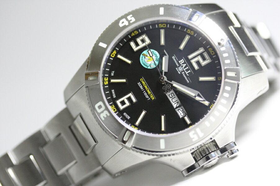 世界限定1000本スイス製BALL WATCH【ボールウォッチ】ハイドロカーボンSpacemaster Binnie LE【スペースマスター・ビニー】クロノメーター自動巻き腕時計/並行輸入商品