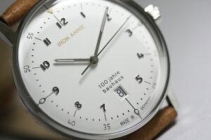 流通限定のドイツ製IRONANNIE【アイアン・アニー】Bauhaus【バウハウス】100周年記念クォーツ腕時計/メンズウォッチ/正規代理店商品/Junkersユンカース