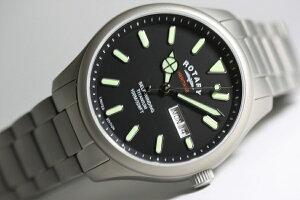 世界限定300本(日本入荷10本)ROTARY【ロータリー】Heritage【ヘリテージ】チタンケース採用自動巻き腕時計/正規代理店商品